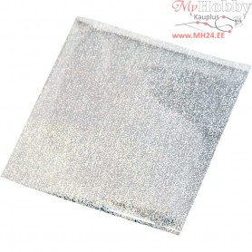 Art and Craft Foil, sheet 10x10 cm, silver, 30sheets