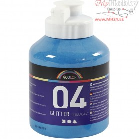 A-Color Acrylic Paint, blue, blue - glitter, 500ml