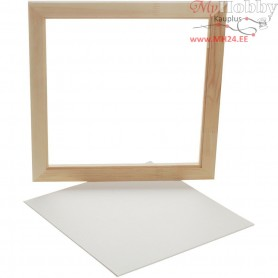 Framed Canvas Panel, outer size 35,8x35,8 cm, depth 1,5 cm, Canvas Panel 30x30 cm, 1pc