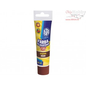 Poster paint ASTRA 30 ml tube - brown