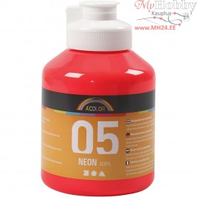 A-Color Acrylic Paint, neon red, 05 - neon, 500ml