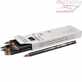 Super Ferby 1 colouring pencils, lead: 6,25 mm, L: 18 cm, grey, 12pcs