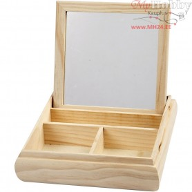 Jewellery Box, size 19,5x19,5 cm, thickness 5 cm, pine, 1pc