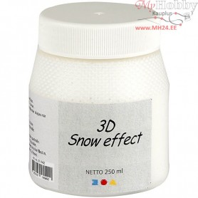 3D Snow Effect, white, 250ml