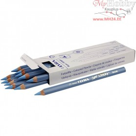 Super Ferby 1 colouring pencils, lead: 6,25 mm, L: 18 cm, light blue, 12pcs