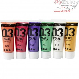 A-Color Acrylic Paint, asstd. colours, 03 - metallic, 6x20ml