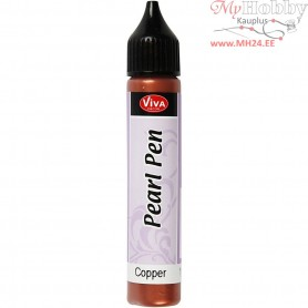 Pearl Pen, metallic copper, 25ml