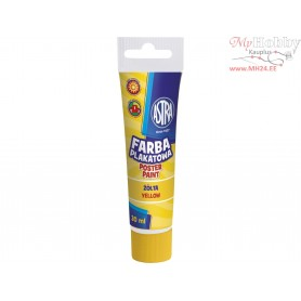 Poster paint ASTRA 30 ml tube - yellow