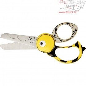 Kids Animal Scissors, L: 13 cm, Bee, 1pc