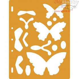 Shape Template, size 23x30,5 cm, Butterflies, 1pc