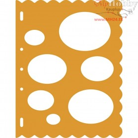 Shape Template, sheet 23x30,5 cm, Ovals, 1pc
