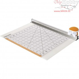 Combo Rotary Cutter & Ruler, L: 31 cm, W: 31 cm, 1pc