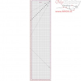 Quilting ruler, size 15x60 cm, 1pc