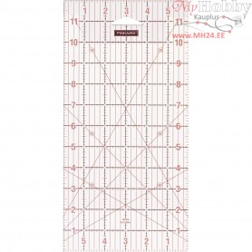 "Quilting ruler, size 16x31 cm, size 6x12 "" , 1pc"