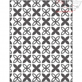 Embossing Folder, size 11x14 cm, thickness 2 mm, leaves, 1pc