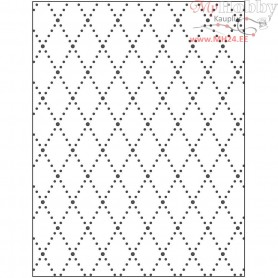 Embossing Folder, size 11x14 cm, thickness 2 mm, rhombus, 1pc
