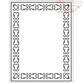 Embossing Folder, size 11x14 cm, thickness 2 mm, frame, 1pc