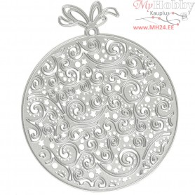 Die Cut and Embossing Folder, D: 9,2x11,2 cm, christmas ornaments, 1pc