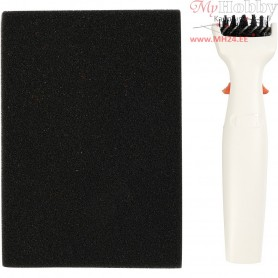 Die Brush & Foam Pad, size 4x15,5 cm, 1pc