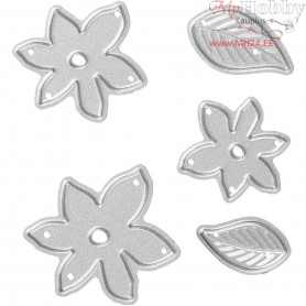 Die Cut and Embossing Folder, size 5,5x5,1 cm, little plants, 1pc