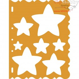 Shape Template, sheet 21x28 cm, Stars, 1pc
