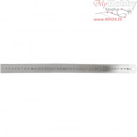 Steel ruler, L: 40 cm, 1pc