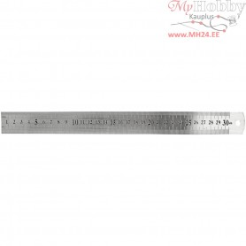Steel ruler, L: 30 cm, 1pc