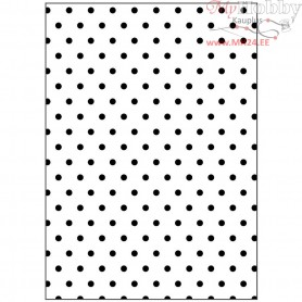 Embossing Folder, size 13x18,5 cm, thickness 2 mm, polka dot, 1pc