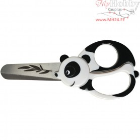 Kids Animal Scissors, L: 13 cm, panda, 1pc