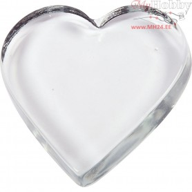 Heart, size 9x9 cm, thickness 15 mm, 10pcs