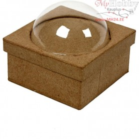 Box with bubble, size 10x10 cm, H: 4,5 cm, 1pc