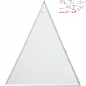 Glass Plate, Triangular, size 8x9 cm, thickness 3 mm, 10pcs