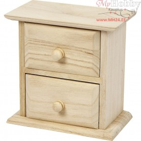 Chest of Drawers, size 13x7,5x13 cm, empress wood, 1pc