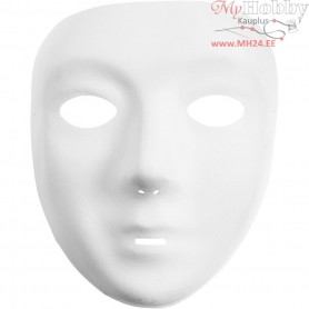 Full Face Masks, H: 17,5 cm, W: 14 cm, white, 12pcs