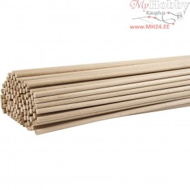 Stick, L: 60 cm, D: 8 mm, beech, 10pcs