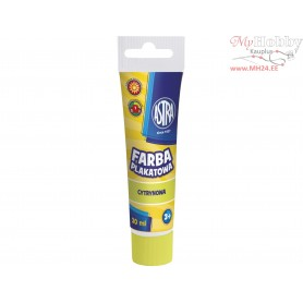 Poster paint ASTRA 30 ml tube - lemon
