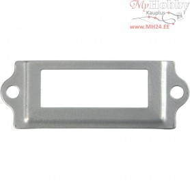 Archive Fittings, size 22x60 mm, hole size 12x34 mm, silver, 40pcs