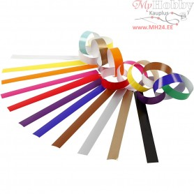 Paper Chains, L: 16 cm, W: 15 mm, asstd colours, 400ass.