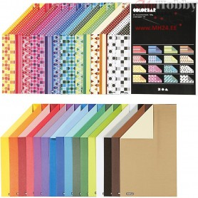 Color Bar A4 Card, A4 210x297 mm,  250 g, asstd colours, 32x10sheets