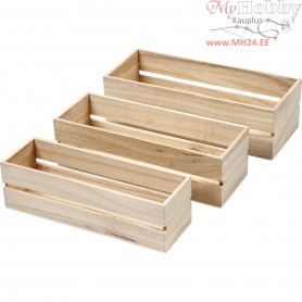 Wood Boxes, empress wood, 3pcs