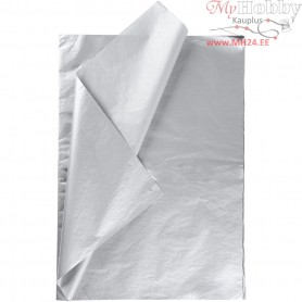 Tissue Paper, sheet 50x70 cm,  14 g, silver, 25sheets