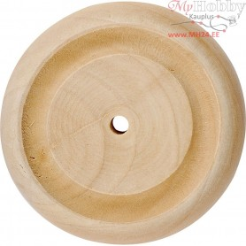 Wheel, D: 50x14 mm, thickness 14 mm, china berry, 40pcs, hole size 3 mm