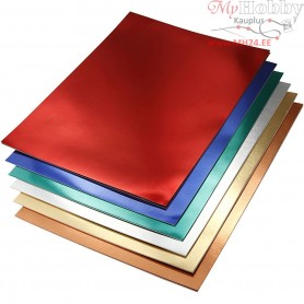 Metallic Foil Card, A4 210x297 mm,  280 g, asstd colours, 30asstd. sheets