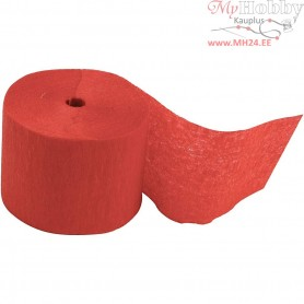 Crepe Paper Streamers, W: 5 cm, L: 20 m, red, 20rolls