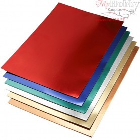 Metallic Foil Card, A2 420x600 mm,  280 g, asstd colours, 30asstd. sheets