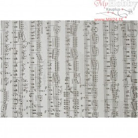 Vellum Paper, A4 210x297 mm,  115 g, music notes, 10sheets