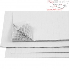 Honeycomb paper, sheet 28x17,8 cm, white, 8sheets