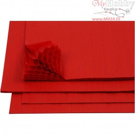 Honeycomb paper, sheet 28x17,8 cm, red, 8sheets