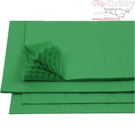 Honeycomb paper, sheet 28x17,8 cm, green, 8sheets