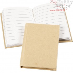 Notebook, A7 7,5x10,5 cm, brown, 1pc